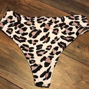 SHEIN Swim - SHEIN sizeL cheetah highwaisted bathingsuit bottom